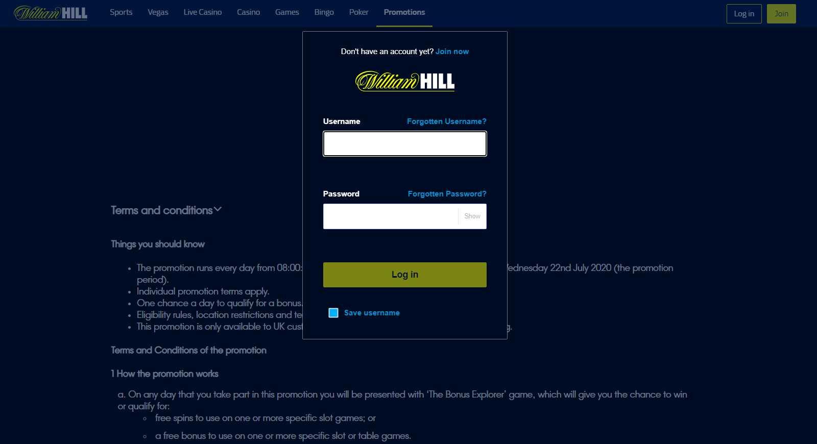 ¿Cómo registrarse en William Hill?